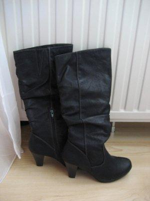 Jackboots black imitation leather