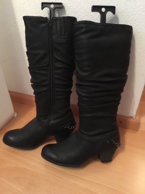 Jana Wide Calf Boots black