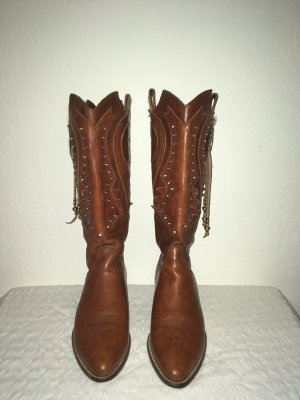 Western Boots brown-light brown leather