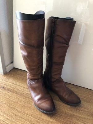 Botas estilo militar marrón-coñac