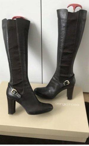Sergio Rossi High Heel Boots dark brown