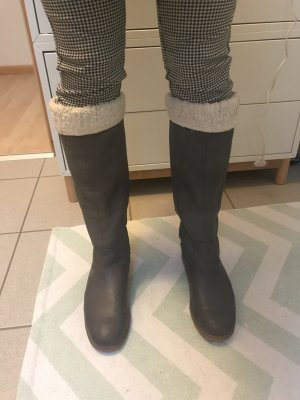 Görtz Shoes Stivale militare grigio-bianco sporco