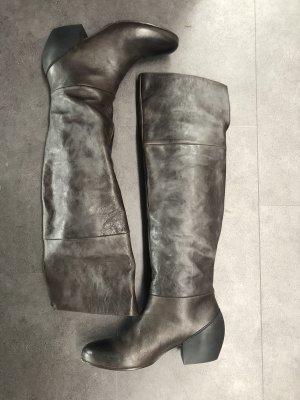 Vic Matie Botas estilo militar marrón grisáceo-taupe Cuero