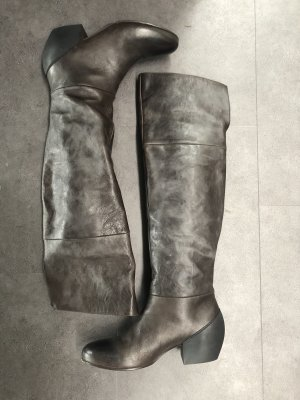 Vic Matie Jackboots grey brown-taupe leather