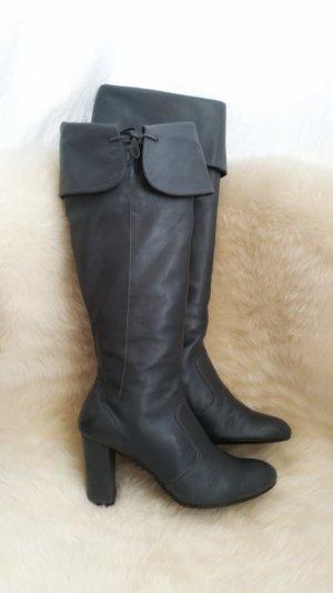 Stiefel Leder grau Gr. 37