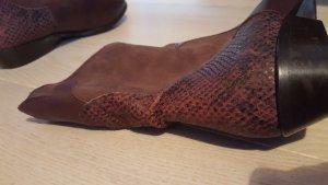Stiefel Leder Neu! Gr. 39 boots braun schlangenoptik
