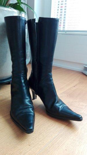 Stiefel Leder schwarz Gr. 36,5