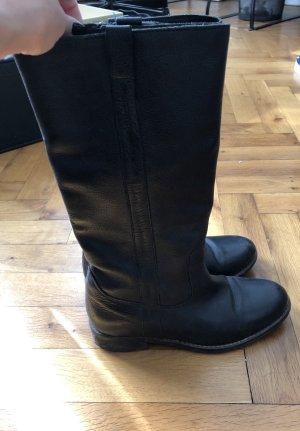 Stiefel Leder schwarz Schuhe Winter Herbst