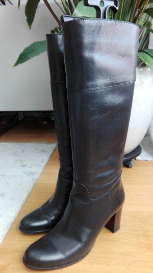 Stiefel Leder schwarz von Lottusse Gr. 37