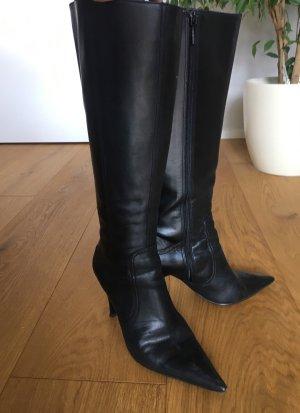 Zara Bottes à l'écuyère noir cuir