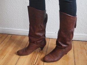 Stiefel Lederimitat Braun