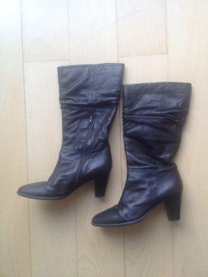 Stiefel Lederstiefel Leder braun Größe 39