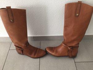 Stiefel Lederstiefel Reiterstiefel Massimo Dutts Größe 40 braun cognac