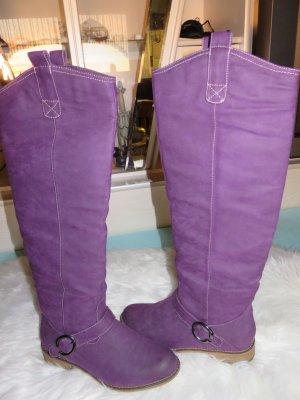 Botas de equitación lila-lila Imitación de cuero