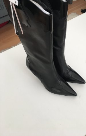 Mango Western Laarzen zwart