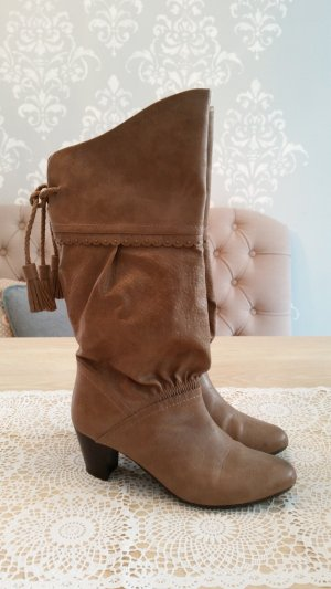 Cliffton Western Boots light brown leather