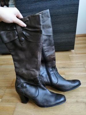 Caprice Heel Boots dark brown-black brown