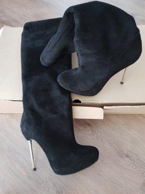Stiefel mit Absatz Wildleder