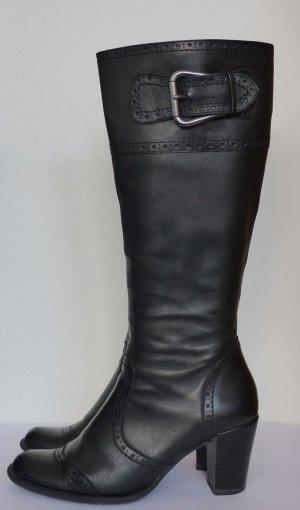 Stiefel mit Blockabsatz von Görtz Gr. 38, schwarz