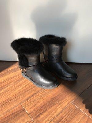 Stiefel mit Echtfell schwarz