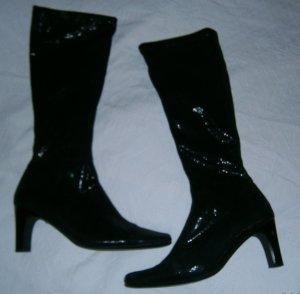 Stiefel mit glitzerndem Textilschaft
