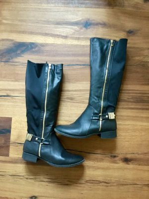 High Boots black-gold-colored