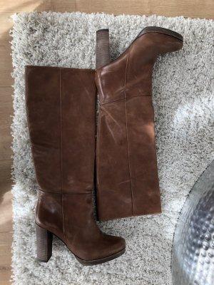 Stiefel mit Holz Absatz