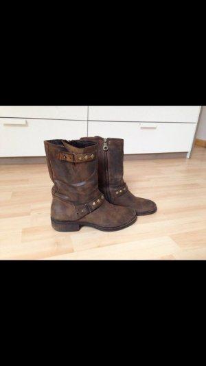 Korte laarzen bruin-goud