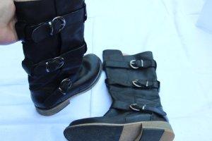 Stiefel mit Schnallen von Buffalo - dunkelblau