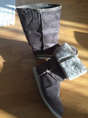 Stivaletto buskin grigio-marrone-grigio