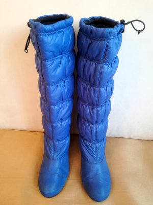 Stiefel, Moonboots-Optik, blau