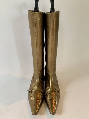 Noa Noa Heel Boots gold-colored leather