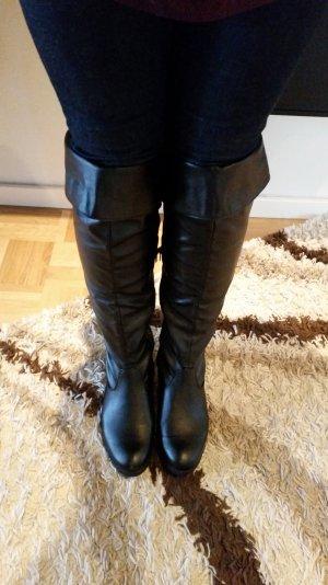 Stiefel Overknees schwarz von City Walk Gr. 39 Versandkostenfrei