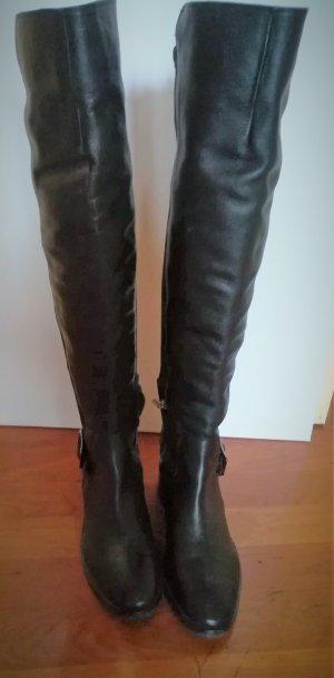 Pepe Jeans Overknees black leather