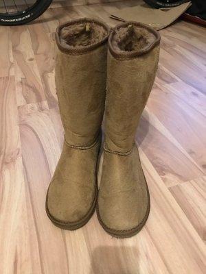 Stiefel primark boots beige braun größe 38 mit fell atmosphere