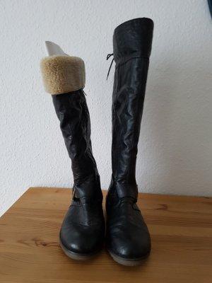 Stiefel Rieker Gr. 38 schwarz, Teddyfutter, variable Trageweise