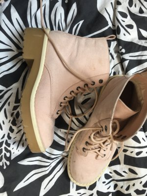 H&M Lace-up Boots pink