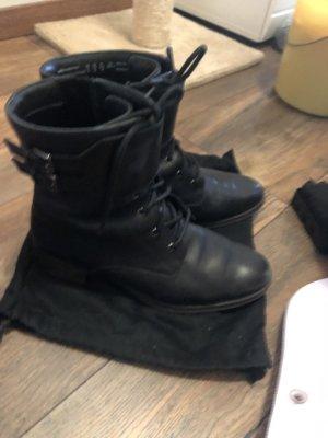 Clarks Halfhoge laarzen zwart