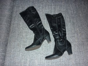 Stiefel schwarz 39 warm mit Schnallen hoher Absatz gefüttert