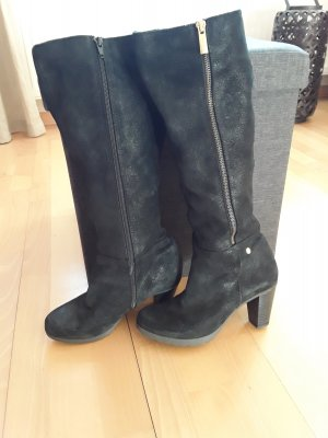 Stiefel  schwarz Alba Moda Gr.37 Stiefel Wildleder