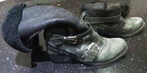 Stiefel schwarz Bronx 38 Leder mit Fütterung