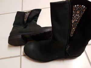 Korte laarzen zwart Suede