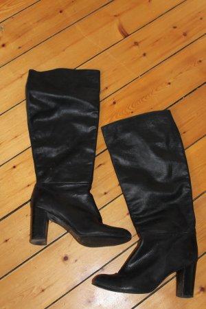 Stiefel Schwarz Gr. 39 Leder ASOS Boots