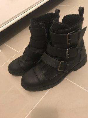 Stiefel, schwarz, Größe 38