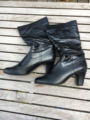 Stiefel schwarz, Größe 39