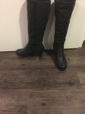 Stiefel schwarz kniehoch Gr. 38 von Zanon & Zago