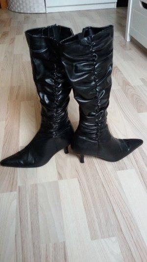 Stiefel*schwarz*Leder*