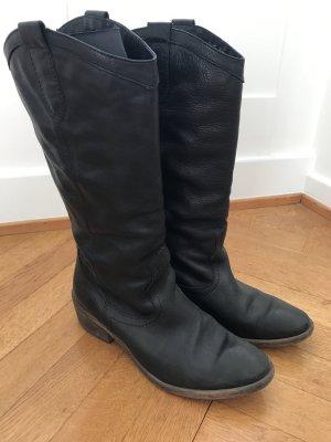 Stiefel schwarz Leder Größ 39