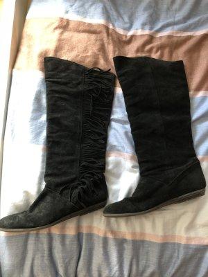 Stiefel schwarz Leder Zara 38