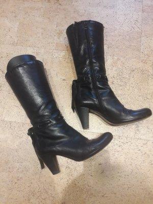 Stiefel schwarz mit Absatz